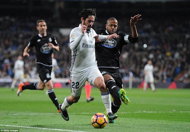 Real Madrid khởi đầu đầy nhọc nhằn trong hiệp 1