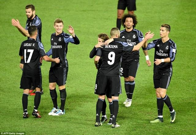 Real Madrid dễ dàng hạ Club America ở trận bán kết