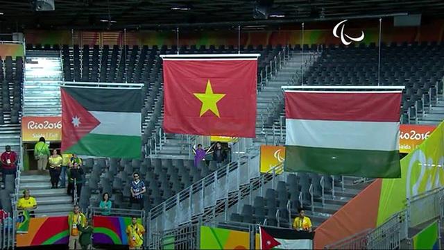 Niềm vui khi quốc ca Việt Nam được xướng lên tại Paralympic