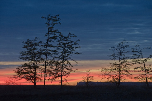 Khung cảnh yên bình gần làng Klinovka tại quận Simferopol.