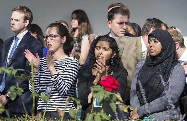 Nhiều gương mặt trong đội ngũ nhân viên Nhà Trắng là những người trẻ tuổi. (Ảnh: EPA)