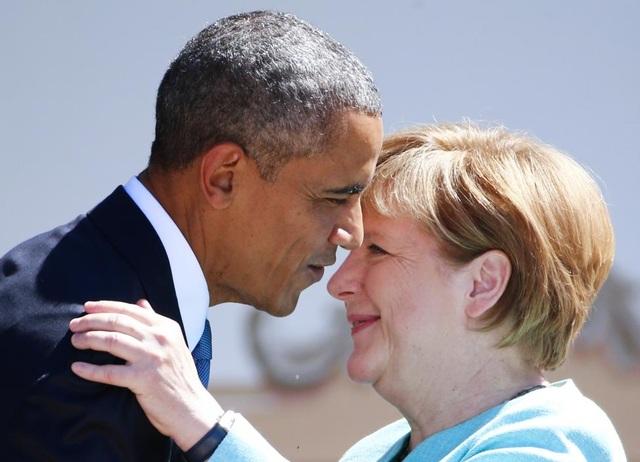 Thủ tướng Đức chào đón nhà lãnh đạo Mỹ tại Kruen, miền nam nước Đức năm 2015. (Ảnh: Reuters)