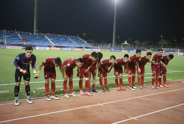 Đội tuyển U19 Việt Nam cảm ơn người hâm mộ