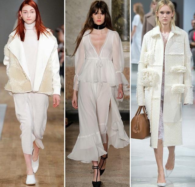 Mùa đông này, màu trắng tinh khôi, thanh thoát đang được các nhãn hiệu thời trang đình đám lăng xê tích cực trở lại