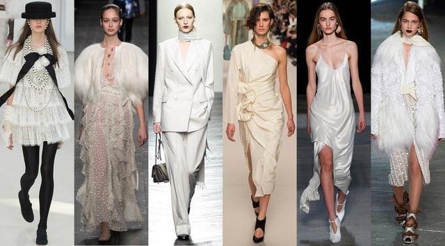 Màu trắng ngập tràn sàn catwalk...