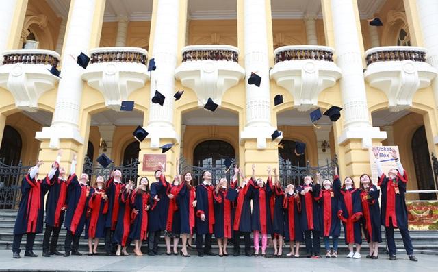 Tân Thạc sỹ của chương trình Thạc sỹ Tài chính và Đầu tư khóa 3 rạng rỡ trong ngày nhận bằng tốt nghiệp.