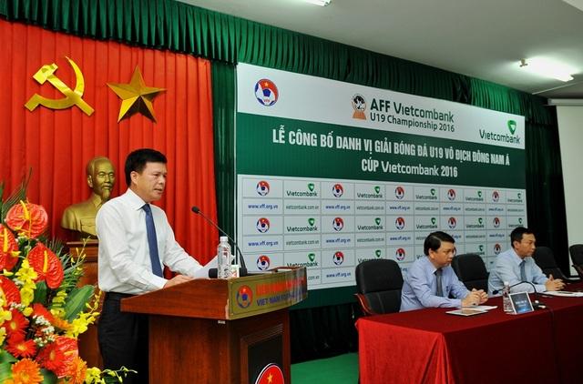 Ông Phạm Mạnh Thắng - Phó Tổng giám đốc Vietcombank phát biểu tại buổi lễ