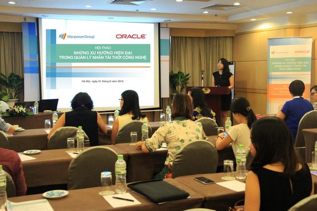 """Hội thảo dịch vụ """"Khoán việc và Cho thuê lại lao động"""" do ManpowerGroup và Oracle VN tổ chức ngày 31/8"""
