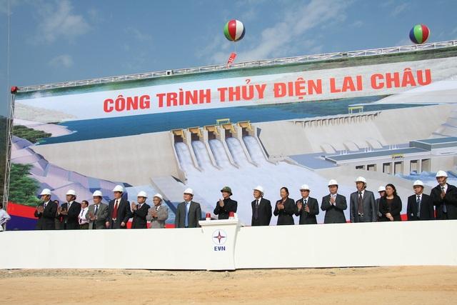 Nhà máy Thủy điện Lai Châu được khởi công vào ngày 5/1/2011 với quy mô 3 tổ máy có tổng công suất thiết kế 1.200 MW.