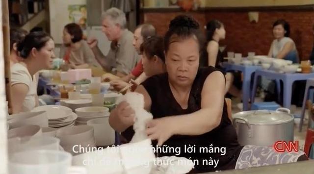 Quán bún chửi của bà Thảo được lên CNN (Ảnh chụp màn hình)