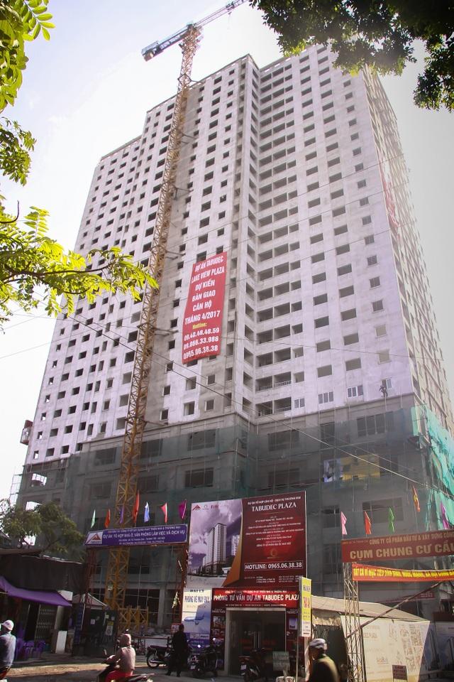 Chung cư Tabudec Plaza 16 đường Phan Trọng Tuệ có đã cất nóc, dự kiến bàn giao nhà trong tháng 4/2017.
