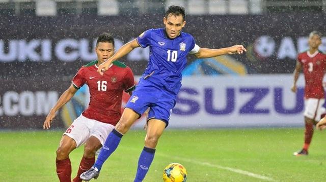 Dangda tỏa sáng với hattrrick cho Thái Lan vào lưới Indonesia