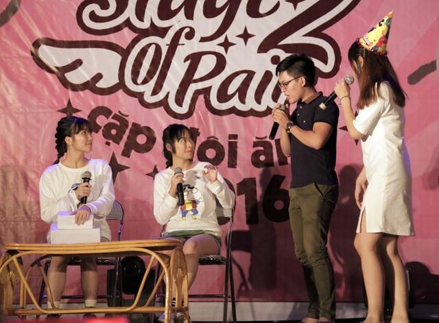 Phần thi ứng xử với tình huống về buổi sinh nhật bạn trai của cặp đôi Song Linh