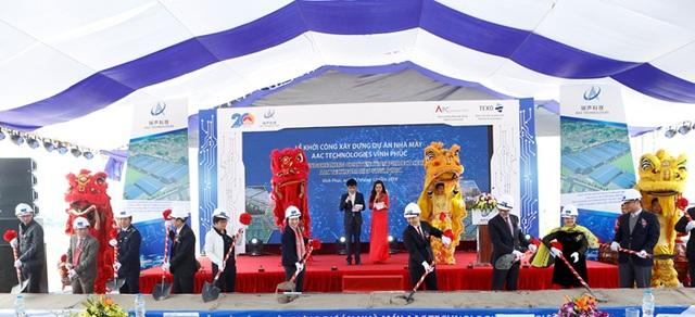 Lễ khởi công xây dựng dự án Nhà máy AAC Technologies Vĩnh Phúc