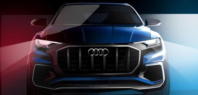 Audi đã công bố hình ảnh đầu tiên của tân binh Q8 trước khi mẫu xe này chính thức ra mắt tại Triển lãm ô tô Detroit vào tháng sau.