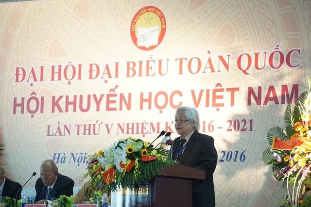 GS.TS Phạm Tất Dong, Tổng thư ký, Phó Chủ tịch Hội Khuyến học Việt Nam (Ảnh: Hữu Nghị)