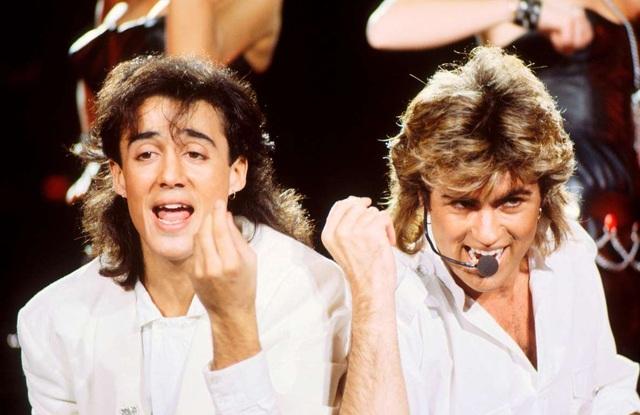 George Michael (phải) khi còn là thành viên của nhóm Wham!