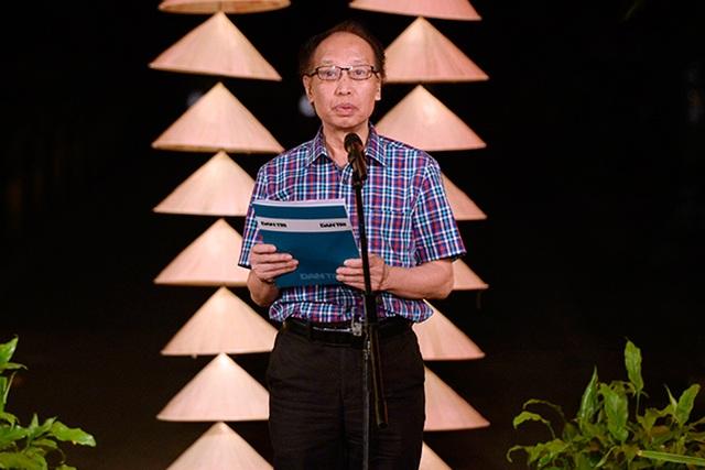 Nhà báo Phạm Huy Hoàn, Tổng Biên tập báo Dân trí phát biểu trong buổi họp báo