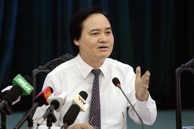 Bộ trưởng Bộ GD&ĐT Phùng Xuân Nhạ (Ảnh: Mạnh Thắng)