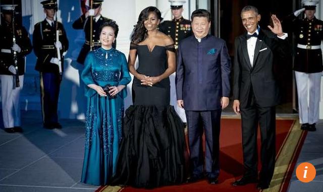 Đệ nhất phu nhân Mỹ và Trung Quốc. (Ảnh: Reuters)