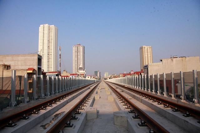 Ray tàu trên tuyến chính đường sắt trên cao Cát Linh - Hà Đông đã hoàn thành