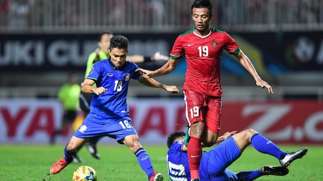Thái Lan đã gục ngã 1-2 dưới tay Indonesia ở chung kết lượt đi