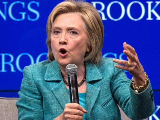 Ứng viên tổng thống Dân chủ Hillary Clinton. (Ảnh: AFP)