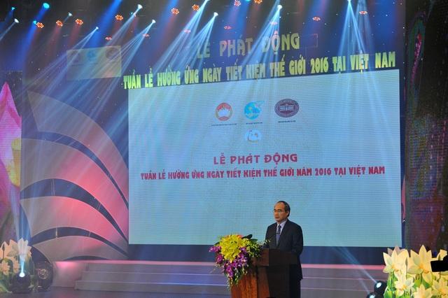 Chủ tịch UBTW MTTQ Việt Nam Nguyễn Thiện Nhân phát biểu tại chương trình
