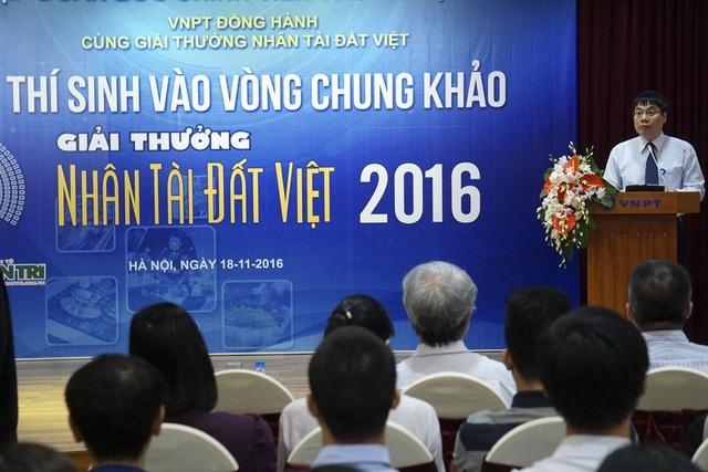 Ông Tô Mạnh Cường, Phó TGĐ Tập đoàn VNPT, đồng tổ chức và tài trợ chính cho Giải thưởng Nhân tài Đất Việt.