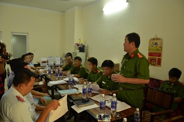 Đại diện Cảnh sát PCCC TPHCM nêu ý kiến tại buổi làm việc