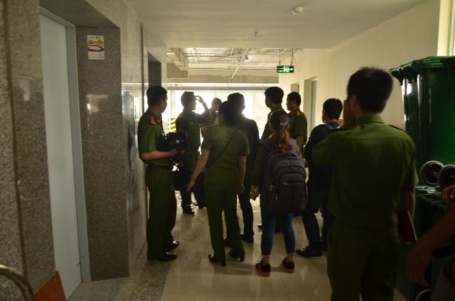 Cảnh sát PCCC kiểm tra các hạng mục tại công trình chung cư Tecco Tower Tham Lương