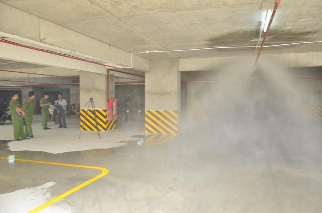 Kiểm tra hệ thống chữa cháy tự động tại tầng giữ xe