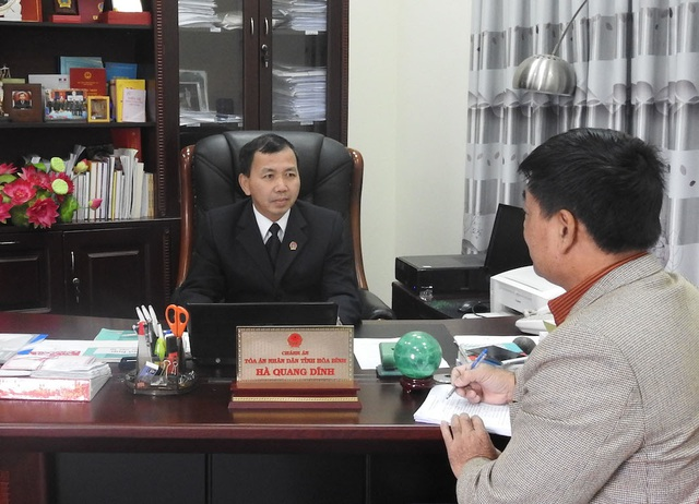 Chánh án TAND tỉnh Hoà Bình khẳng định việc Tòa án nhân dân huyện Kim Bôi thụ lý đơn khởi kiện là đúng, là cần thiết.