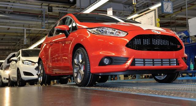 Dây chuyền lắp ráp xe Fiesta thế hệ hiện tại ở Mỹ