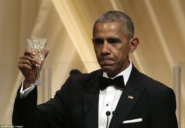 Đây là bữa quốc yến thứ 13 và cũng là cuối cùng của ông Obama trên cương vị Tổng thống Mỹ.