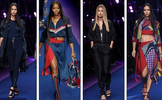 Dàn siêu mẫu tham gia buổi diễn lớn này còn có Irina Shayk, Naomi Campbell, Doutzen Kroes và Adriana Lima