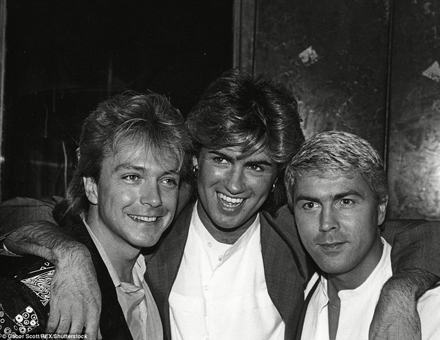 David Cassidy, George Michael và Mike Nolan trong một bức ảnh chụp chung vào những năm 80 của thế kỷ trước.