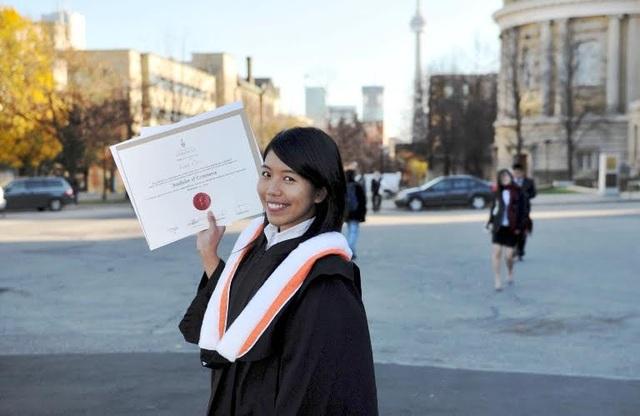 Đào Diệu Linh đã tốt nghiệp ĐH Toronto và hiện đã lập nghiệp tại Canada