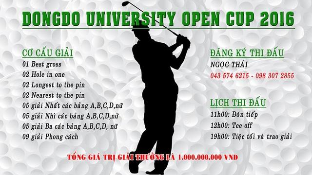 Sắp diễn ra giải golf DongDo University open cup 2016 - 1