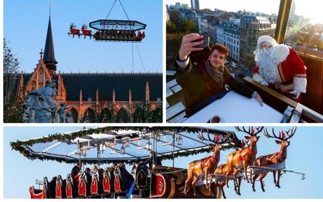Mùa Giáng sinh năm nay, tại thủ đô Brussels (Bỉ) xuất hiện dịch vụ bữa tiệc trên trời