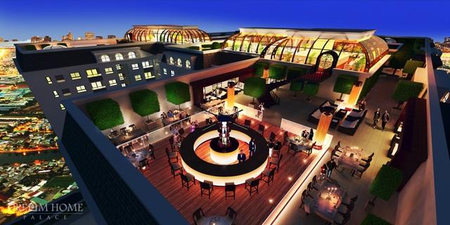 Khu Cafe - Bar tầng thượng dự án Dream Home Palace