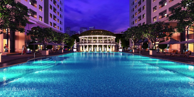 Hồ bơi Paradise Pool dự án Dream Home Palace