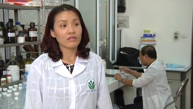 Thạc sỹ Nguyễn Thị Thanh Hải - một trong những thành viên của nhóm tác giả giải pháp hữu ích Phương pháp khử trùng nước bằng dung dịch anolyt điều chế tại chỗ