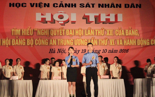 Sôi nổi hội thi tìm hiểu nghị quyết Đảng của SV Học viện Cảnh sát - 2