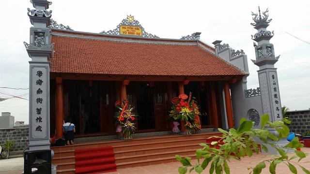 Toàn cảnh khu nhà tưởng niệm Giáo sư Vũ Đình Cự ở huyện Đông Hưng, tỉnh Thái Bình.