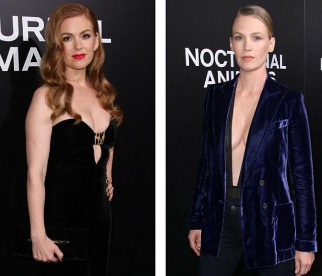 Isla Fisher và January Jones gợi cảm dự công chiếu phim mới Nocturnal Animals tại Los Angeles ngày 11/11 vừa qua