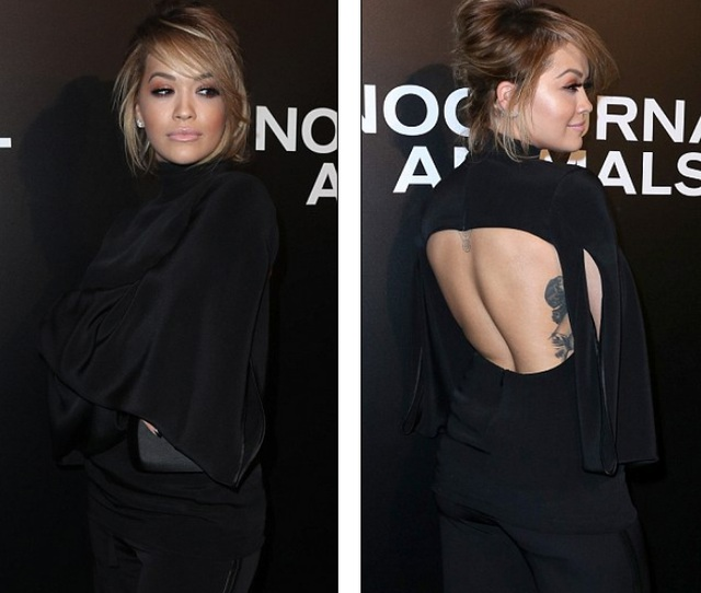 Rita Ora gợi cảm khoe lưng trần