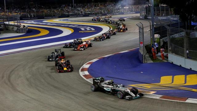 Nico Rosberg thắng tuyệt đối tại chặng đua Singapore - 1