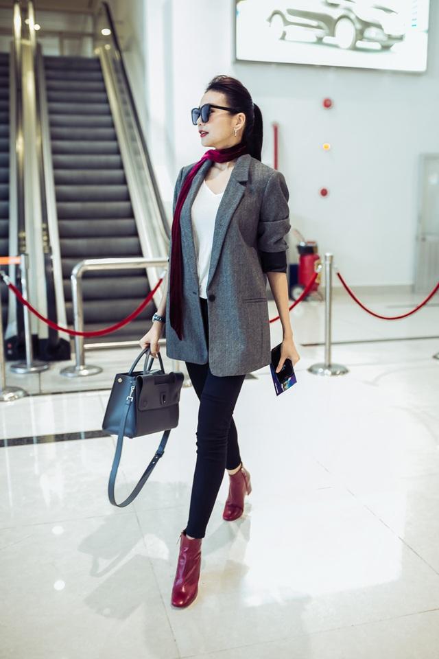 Thanh Hằng sành điệu tại sân bay - 3