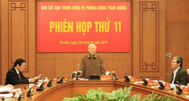 Tổng Bí thư Nguyễn Phú Trọng chỉ đạo tại phiên họp (Ảnh: Thu Huyền).